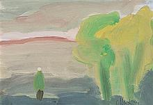 Markey Robinson (1918-1999) Landscape with Figure