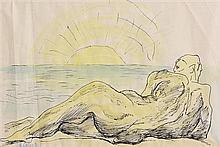 Basil Ivan Rakoczi (1908-1979) Figure on the Shore