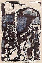 John Behan RHA (b.1938) Dantes Virgil From the Inferno
