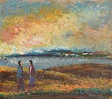 Daniel O'Neill (1920-1974) Two Figures in Landscape