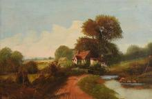 W. Hanes (19th Century English School) Cottage in Landscape
