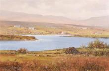 Pat Cowley (20th/21st Century) Loughanure, Near Crolley, Co. Donegal (1989)