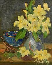 Liam Treacy RHA (1934-2005) Still Life - Daffodils in a Vase