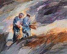 Maurice Henderson (b.1941) Twilight Farmers II (1991)