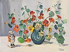 Ann Primrose Jury (1907-1995) RUA Still Life and Porcelain Figurine