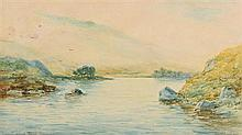 Alexander Williams RHA (1846-1930) Lake Glandalough, Recess, Connemara