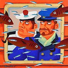 Graham Knuttel (b.1954) Submariners