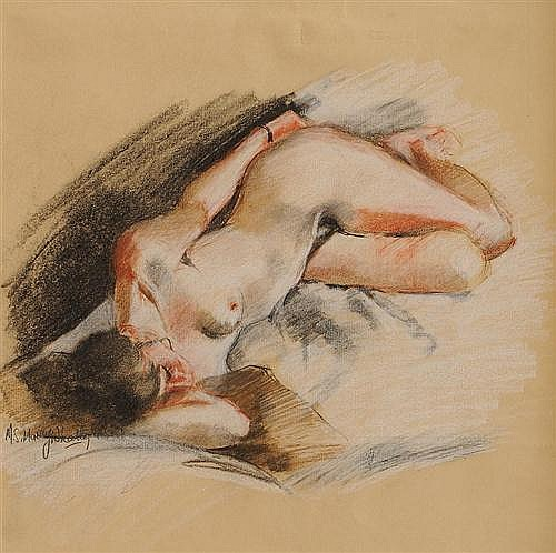 Margaret Stella Murray Whately (20th/21st Century) Female Nude pastel