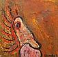 Matt Lamb (b.1932) Abstract oil on canvas signed, Matt Lamb, Click for value