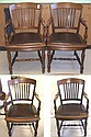 A SET OF FOUR MAHOGANY ARMCHAIRS, American, c.