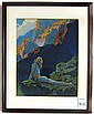 MAXFIELD PARRISH COLOR PRINT (American, 1870-1966)