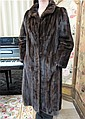 LADY'S MINK COAT, mahogany fur, with collar, two
