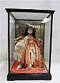 CASED JAPANESE GEISHA DOLL with painted features,