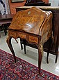 LOUIS XV STYLE INLAID BOMBE WRITING DESK, having a