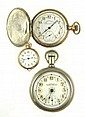 THREE AMERICAN WALTHAM POCKET WATCHES: 1) lady's