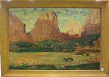 G.F. GILMORE OIL ON CANVAS (American, 19/20th cent
