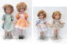 GROUP OF FOUR COMPOSITION SHIRLEY TEMPLE DOLLS wit