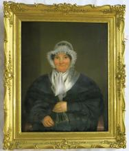 PORTRAIT OF A WOMAN, OIL ON CANVAS, 19th century.
