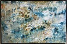 LARGE ABSTRACT GICLEE ON CANVAS, a textured surfac