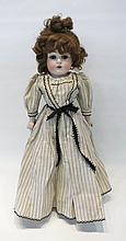 J.D. KESTNER CHILD DOLL having bisque shoulder hea