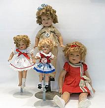 GROUP OF FOUR COMPOSITION SHIRLEY TEMPLE DOLLS by