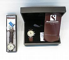 TWO STEINHAUSEN MODEL TW381 WATCHES, both with sta