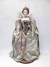GRACE LATHROP BISQUE HEAD CHARACTER DOLL:  of Quee