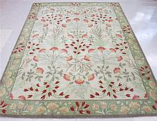 HAND TUFTED ORIENTAL CARPET, overall floral design