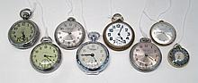COLLECTION OF EIGHT POCKET WATCHES including Sheff