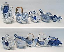 COLLECTION OF TEN BLUE AND WHITE CHINESE PORCELAIN