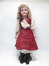 HEINRICH HANDWERCK GIRL DOLL, 30 in., human hair b