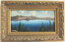 ELIZA R. BARCHUS OIL ON BOARD (Oregon, 1857-1959)