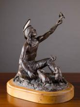 JOE BEELER PATINATED BRONZE SCULPTURE (American, 1