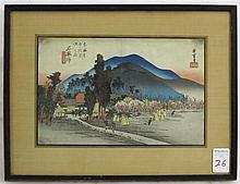 AFTER ANDO HIROSHIGE COLOR WOODCUT (Japan, 1797-18