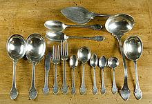 SHREVE & COMPANY STERLING SILVER FLATWARE SET, one