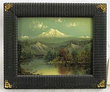 ELIZA BARCHUS OIL ON BOARD (Oregon, 1857-1959) Mou