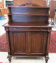 FEDERAL MAHOGANY SIDE CABINET, American, early 19t
