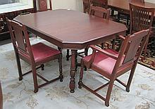DINING TABLE & CHAIR SET, Kiel Furniture Co., Milw