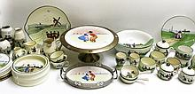 COLLECTION OF DUTCH THEME TABLEWARE, one hundred f