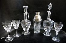 SET OF BACCARAT AND OTHER CUT CRYSTAL TABLEWARE  I