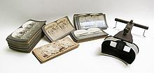 KEYSTONE VIEW COMPANY STEREO VIEWER AND CARDS, han