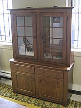 TWO-SECTION OAK HUTCH, Athol Table Mfg. Co. (1922-