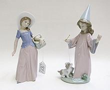 TWO LLADRO PORCELAIN FIGURINES: