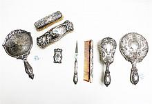 EIGHT STERLING SILVER DRESSER ITEMS: set of 4 by G