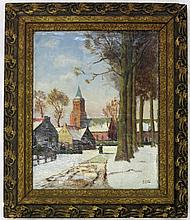 A. HOEK OIL ON CANVAS (Dutch, 20th century) Winter