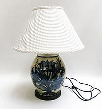 REDSTONE POTTERY TABLE LAMP signed and dated by  a