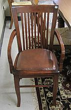 A SET OF SIX MAHOGANY DINING CHAIRS, Indonesia,  r