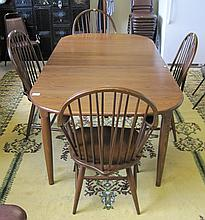 OAK DINING TABLE AND CHAIR SET, Athol Table Mfg. C