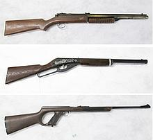 THREE COLLECTABLE AIR RIFLES, the first a