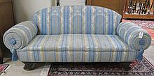 REUPHOLSTERED EMPIRE SOFA, American, 19th century,